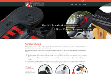 Karate.shoes Website